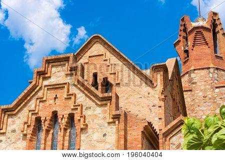 Ñhurch Ermita Mare De Deu De La Riera In Les Borges Del Camp, Tarragona, Catalunya, Spain. Copy Spac