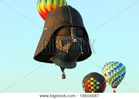 Whitehouse Station, NJ: The 26th Annual Hot Air Balloon Festival, featuring Darth Vader air ship on July 25th 2008.