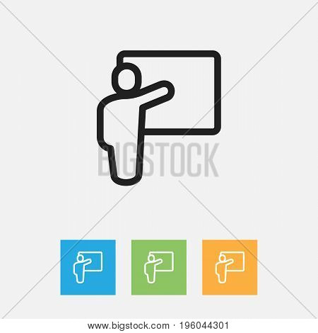 Vector Illustration Of Science Symbol On Lesson Outline