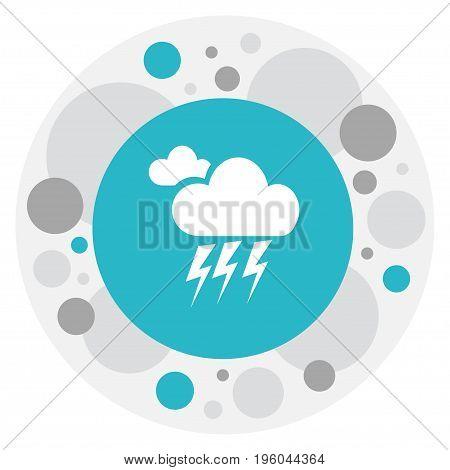 Vector Illustration Of Weather Symbol On Lightning Icon
