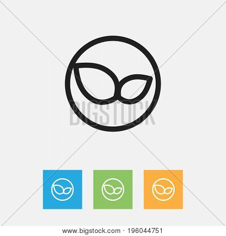 Vector Illustration Of Cleanup Symbol On Organic Production Outline