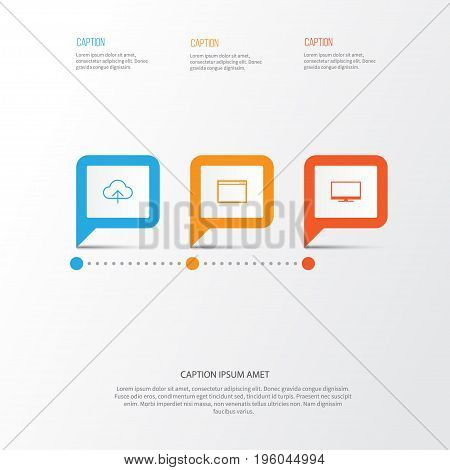 Web Icons Set. Collection Of Display, Transfer, Program And Other Elements