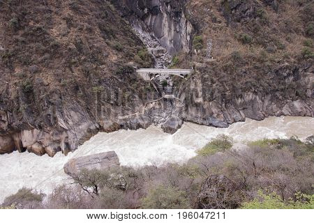 Tiger Leaping Gorge Located North Of Lijiang City, Yunnan Province, China