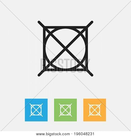 Vector Illustration Of Hygiene Symbol On No Laundromat Outline