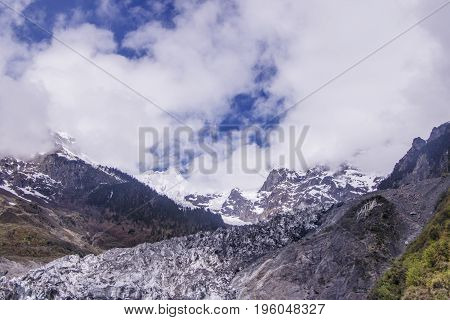 Meili Snow Mountain Also Know As Kawa Karpo Located In Yunnan Province, China