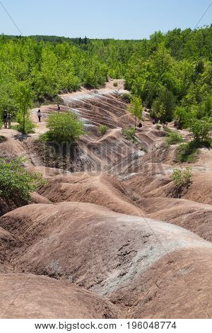 The barren Cheltenham Badlands of Caledon, Ontario.
