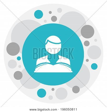 Vector Illustration Of Science Symbol On Reading Man Icon