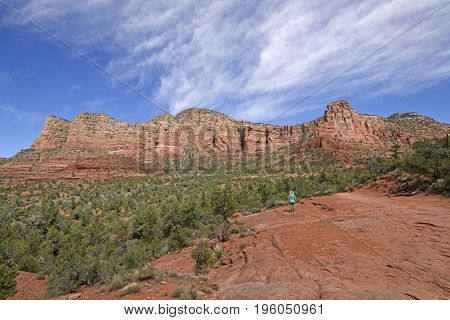 Enjoying a Red Rocks Panorama near Sedona Arizona