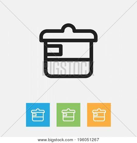 Vector Illustration Of Food Symbol On Casserole Outline