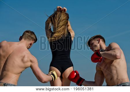 Boxer Workout And Healthy Fitness.
