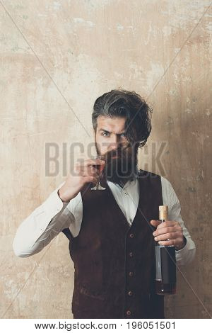 Man Toasting Glass Of Wine