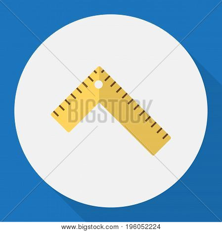Vector Illustration Of Instrument Symbol On Ruler Flat Icon