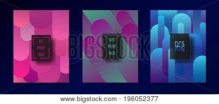Business brochure, poster, flyer design template. Abstract Minimalist style background for Art Print Web exhibition catalog design. Template Vector illustration