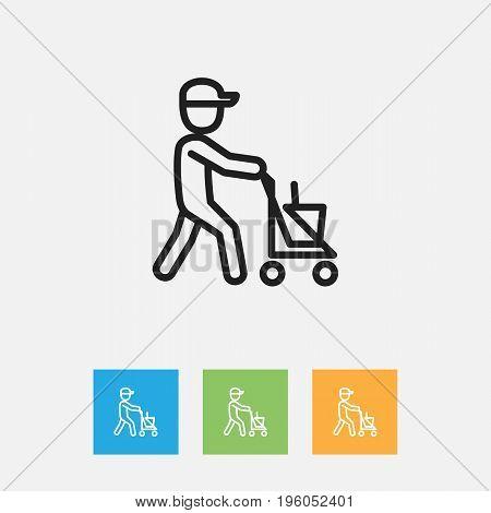 Vector Illustration Of Hygiene Symbol On Janitor Outline