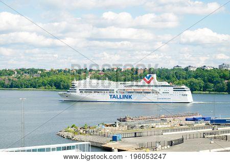 Stockholm, Sweden-July 12, 2017:  Tallink