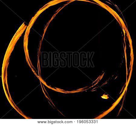 Fire Show Orange Flames