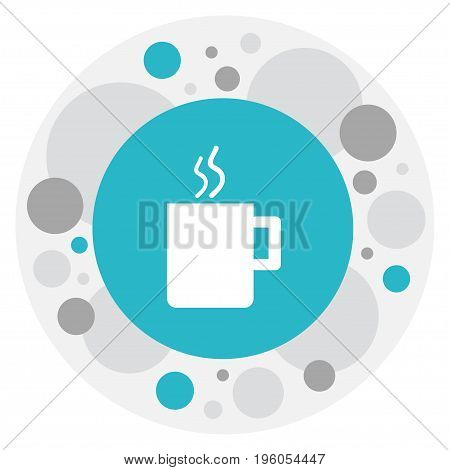 Vector Illustration Of Office Symbol On Cup  Icon