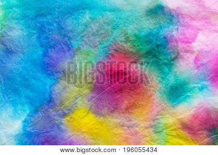 Abstract colored ink background