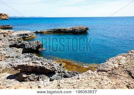 Rocky beach in mallorca Rocky shore