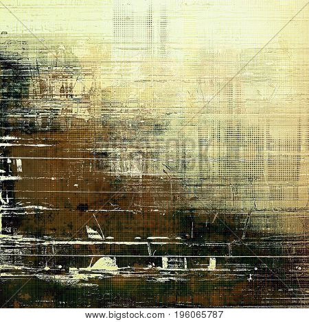 Old abstract texture used as shabby grungy background. With different color patterns: yellow (beige); green; brown; gray