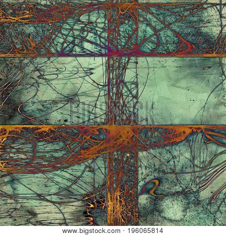 Vintage style designed background, scratched grungy texture with different color patterns: yellow (beige); gray; blue; red (orange); purple (violet); cyan