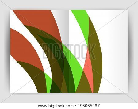 Wave design business brochure or annual report cover. Abstract background