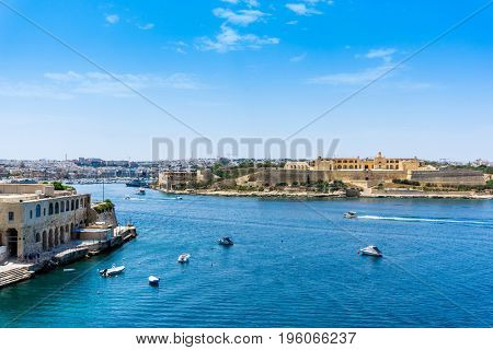 Traditional boats Harbor in Malta