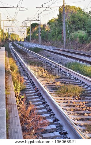 long range view of a simple railroad