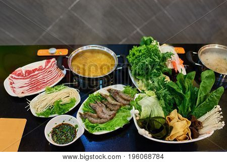 Chinese Hot pot in a restaurant in Beijing China