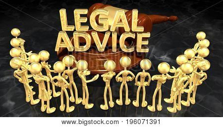 Legal Advice Concept With The Original 3D Characters Illustration