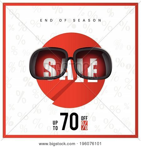 Sale Icon With End Of Season Illustration