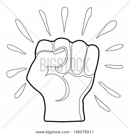 Riot icon in outline style isolated on white vector illustration