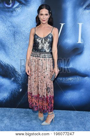 LOS ANGELES - JUL 12:  Katie Aselton arrives for the Season 8 premiere of HBO's 'Game of Thrones' on July 12, 2017 in Los Angeles, CA