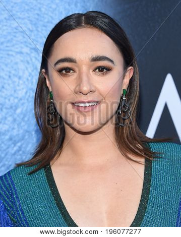 LOS ANGELES - JUL 12:  Keisha Castle-Hughes arrives for the Season 8 premiere of HBO's 'Game of Thrones' on July 12, 2017 in Los Angeles, CA