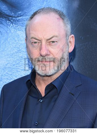 LOS ANGELES - JUL 12:  Liam Cunningham  arrives for the Season 8 premiere of HBO's 'Game of Thrones' on July 12, 2017 in Los Angeles, CA