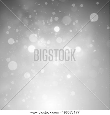 Vector shiny circle bokeh blurred lights background. EPS10