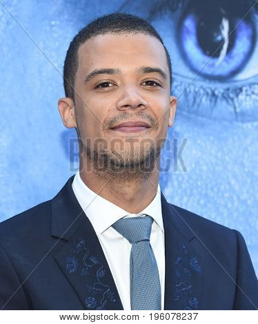 LOS ANGELES - JUL 12:  Jacob Anderson arrives for the Season 8 premiere of HBO's 'Game of Thrones' on July 12, 2017 in Los Angeles, CA