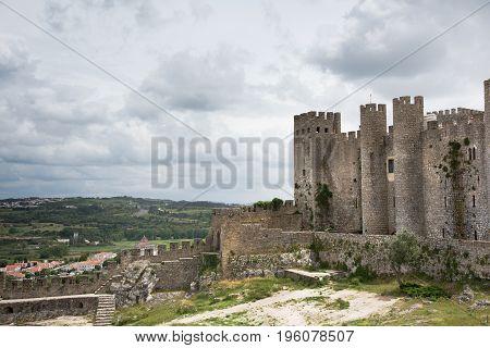 Medieval Castle - Castello de Obidos, Leiria, Portugal