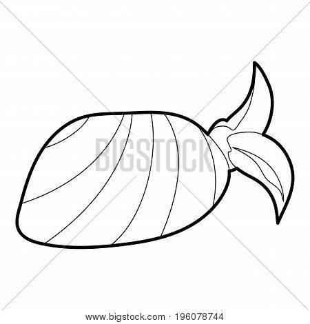 Bandana icon in outline style isolated on white vector illustration