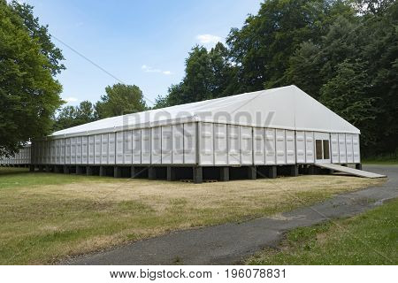 Large Exhibition tent - outdoor shot in Germany