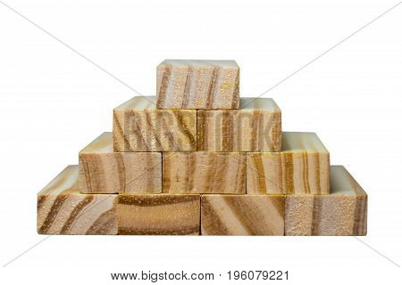 Wooden Blocks On A White Background Isolated