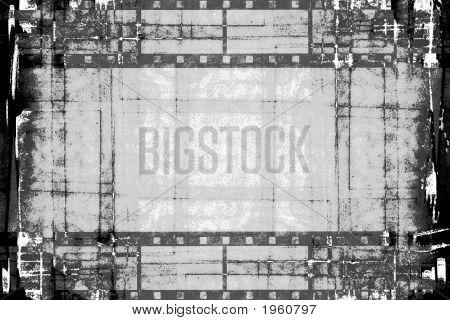 Grunge Film Strips Black And White