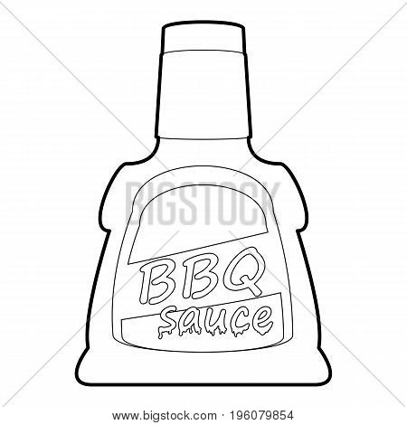 Barbecue sause icon in outline style isolated on white vector illustration