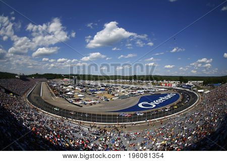 July 16, 2017 - Loudon, NH, USA: The Monster Energy NASCAR Cup Series teams race during the Overton's 301 at New Hampshire Motor Speedway in Loudon, NH.