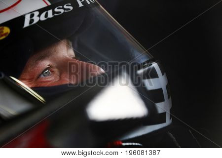 July 15, 2017 - Loudon, NH, USA: Ryan Newman (31) hangs out in the garage during practice for the Overton's 301 at New Hampshire Motor Speedway in Loudon, NH.