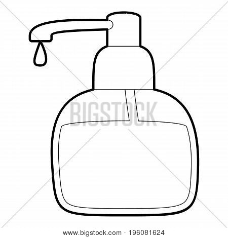 Liquid soap icon in outline style isolated on white vector illustration