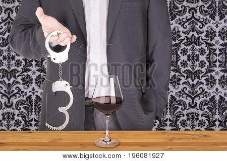 Adult man role playing game concept invitation.