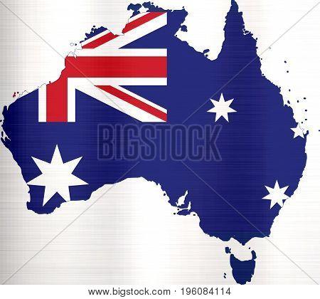 flag map of australia illustration country  shape