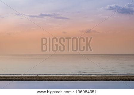 the beach in the beautiful sea and magic sky