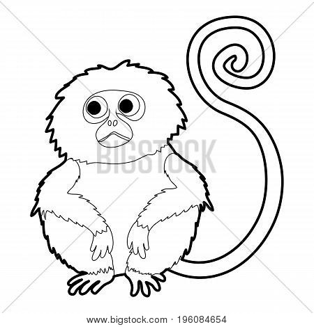 Rhinopithecus icon in outline style isolated on white vector illustration